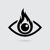 Burning Eye Icon