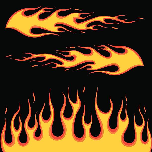 bildbanksillustrationer, clip art samt tecknat material och ikoner med burning fire - flames