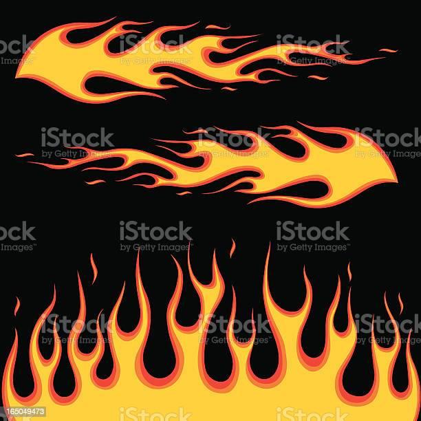 Burning Fire-vektorgrafik och fler bilder på Abstrakt