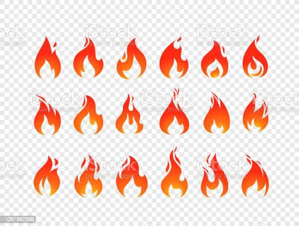Vecteur De Flammes De Combustion La Valeur Isolée Sur Fond Transparent Vecteurs libres de droits et plus d'images vectorielles de Application mobile