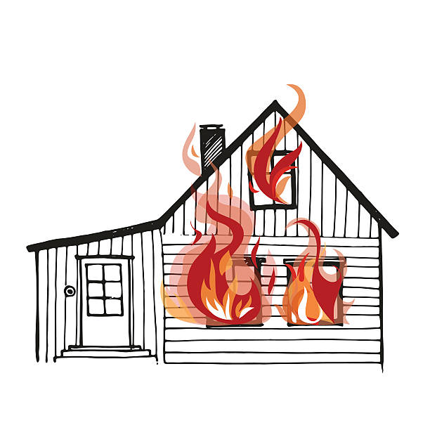Royalty Free House Burning Clip Art, Vector Images ...
