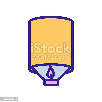 burning lamp icon vector. burning lamp sign. color symbol illustration