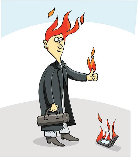 Burning man vector art illustration