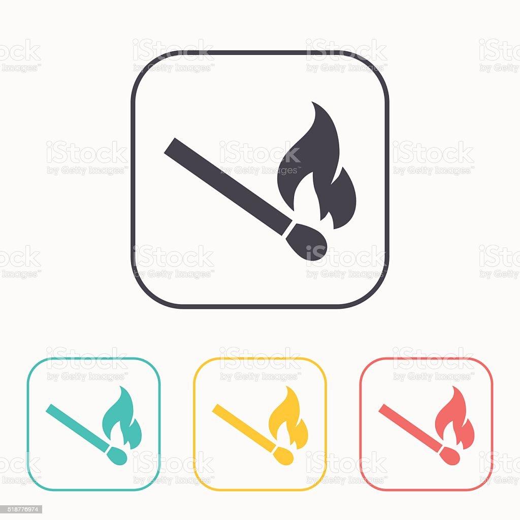 Brennen Spiel Vektor Farbe Symbolset Stock Vektor Art und mehr ...