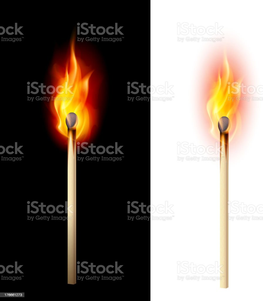 Burning match royalty-free burning match stock vector art & more images of bright