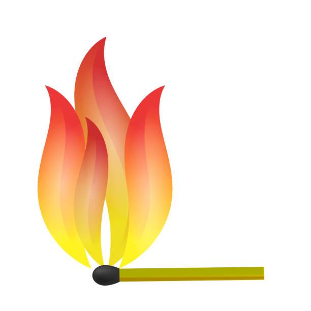 ilustrações de stock, clip art, desenhos animados e ícones de burning match with fire flame - greve
