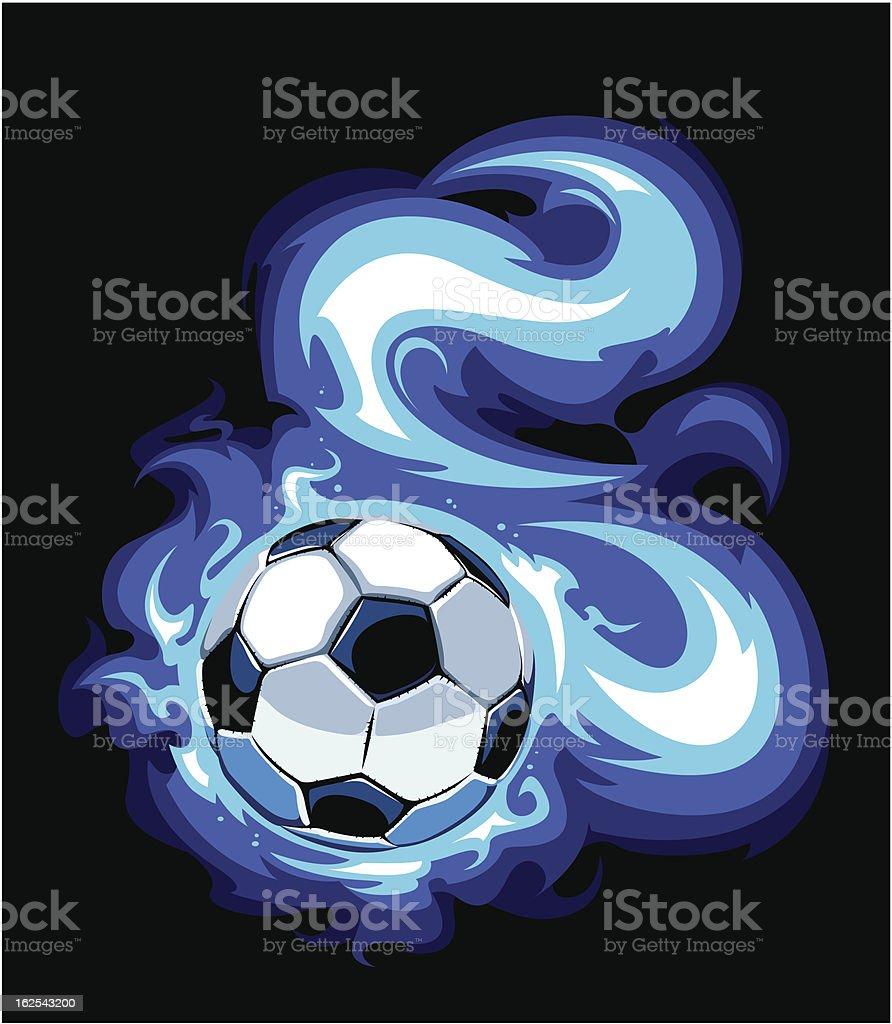 Burning soccer ball royalty-free burning soccer ball stock vector art & more images of art