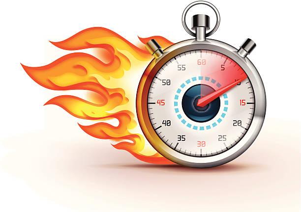 Burning Stoppuhr – Vektorgrafik