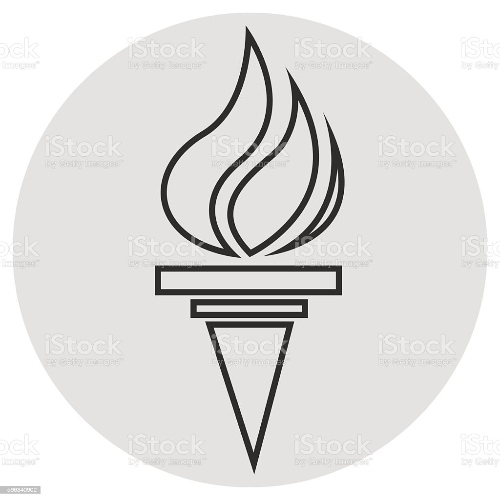 Burning torch line icon. Vector simple icon royalty-free burning torch line icon vector simple icon stock vector art & more images of abstract
