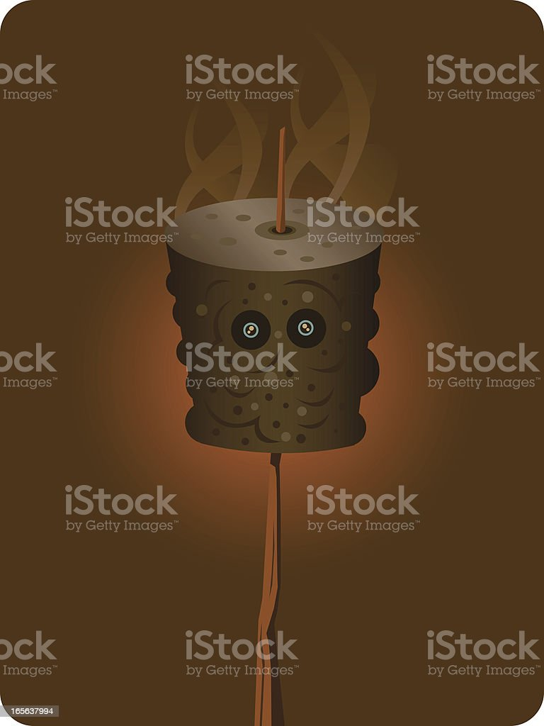 Burnt Marshmallow royalty-free burnt marshmallow stock vector art & more images of burnt