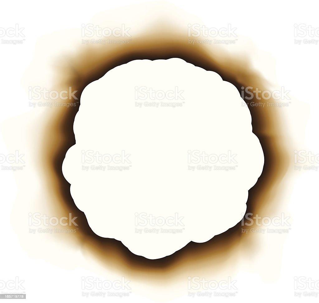 burnt paper royalty-free stock vector art