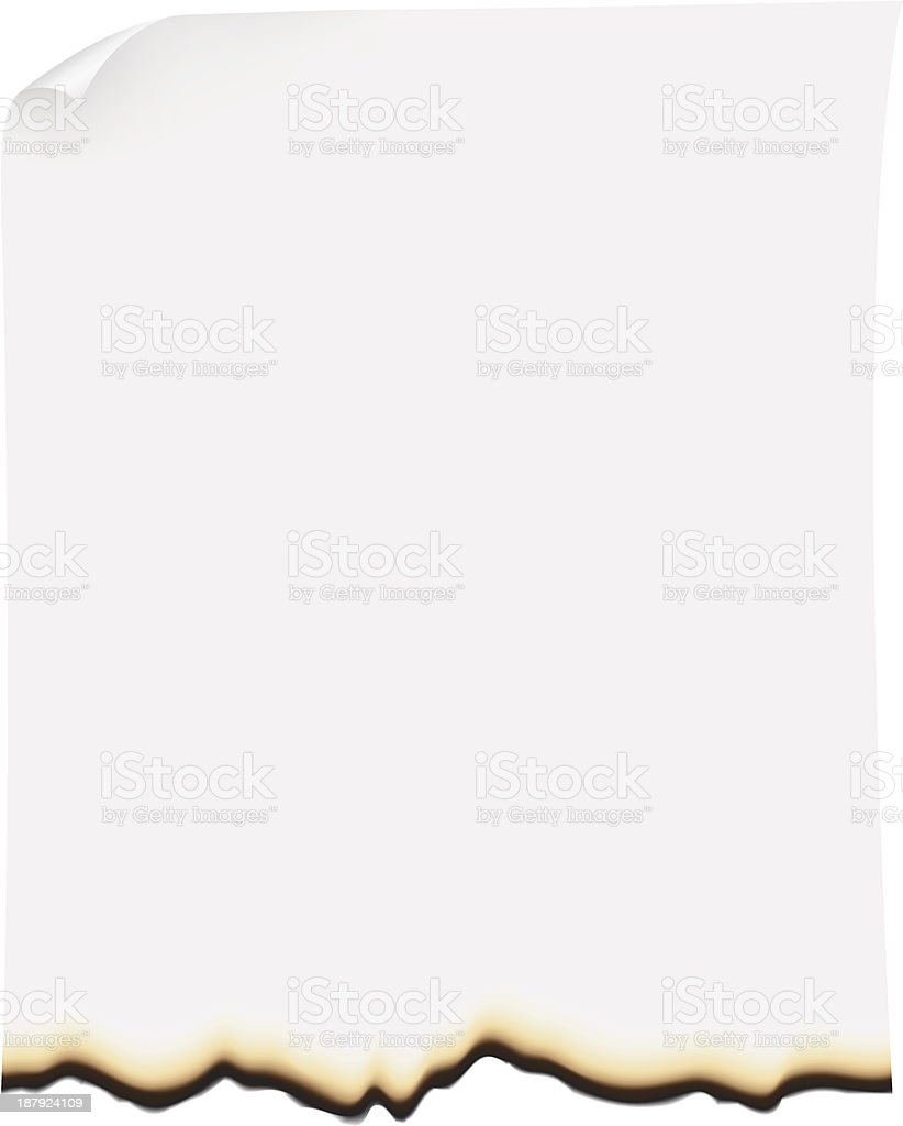 burnt paper vector illustration vector art illustration