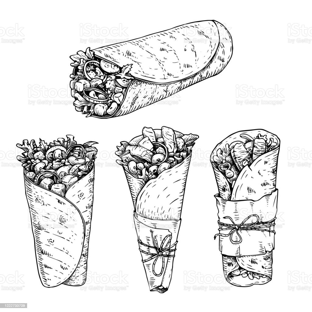 Traditional Mexican Food Drawings