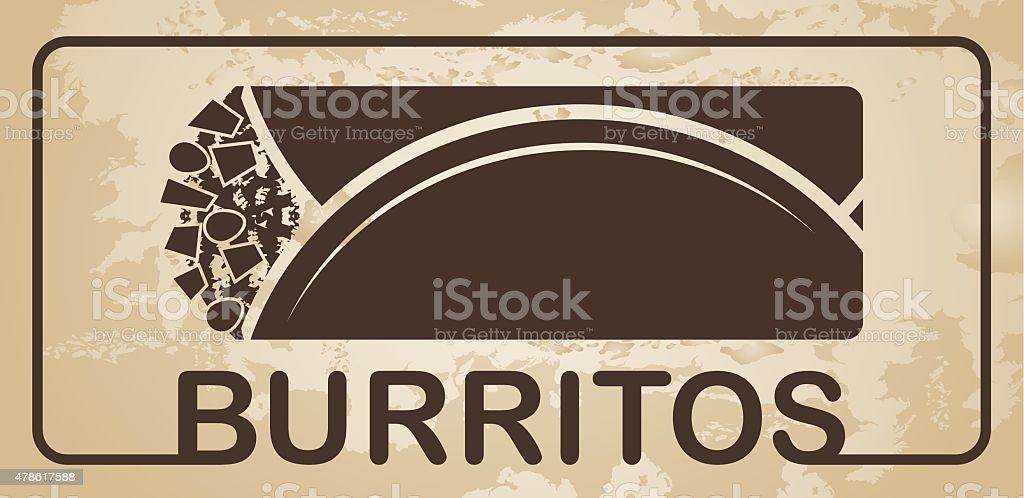 Burritos vector vector art illustration