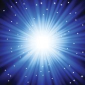 Burst of light with sparkles. EPS10 file with transparencies. Sparkles are on separate layer.