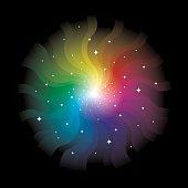 Burst Of Spectrum Light