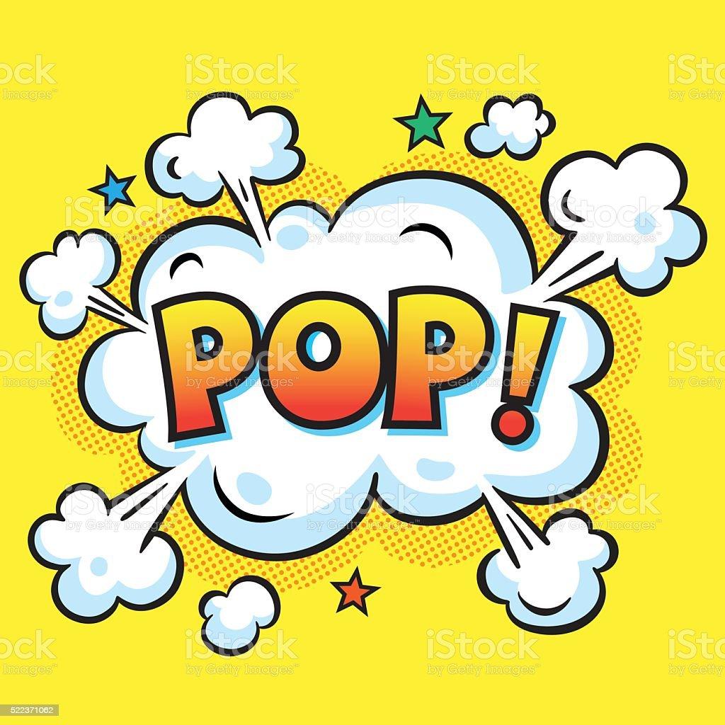 POP! Explosão - ilustração de arte em vetor