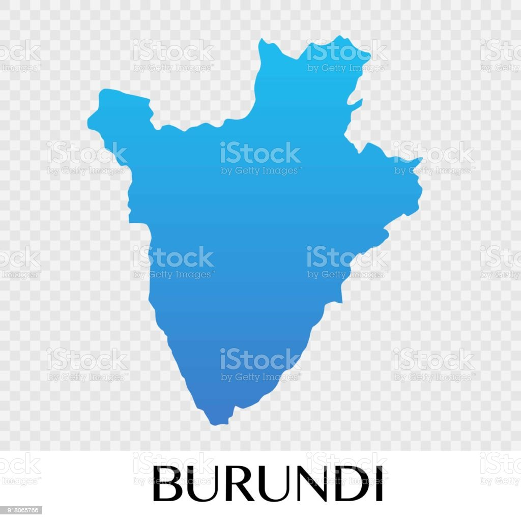 Burundi Map In Africa Continent Illustration Design Royalty Free