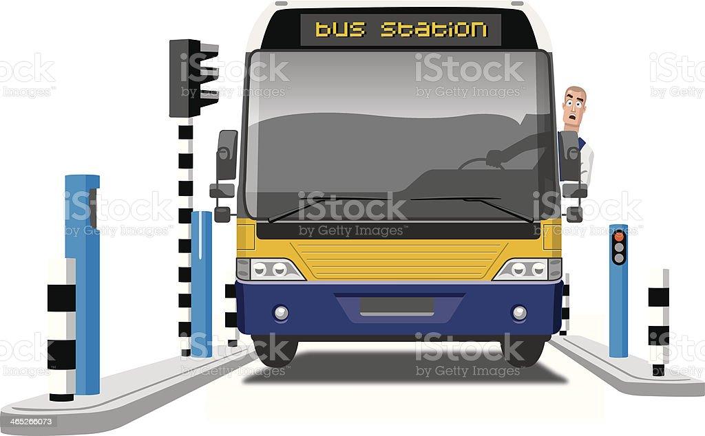 bus driver vector art illustration