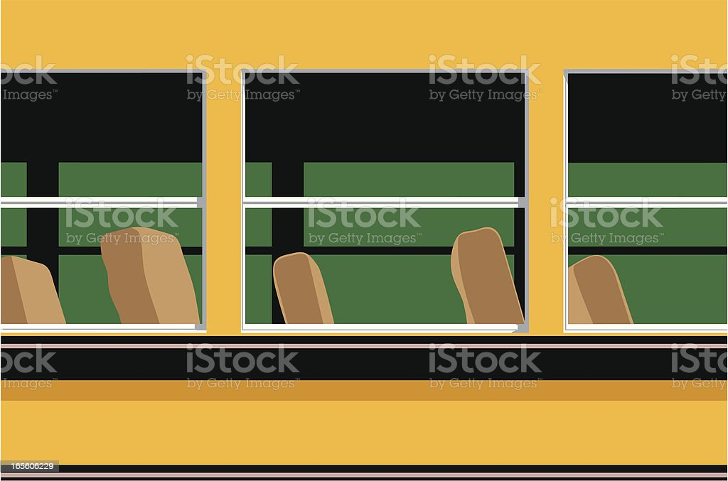 Bus Empty royalty-free stock vector art