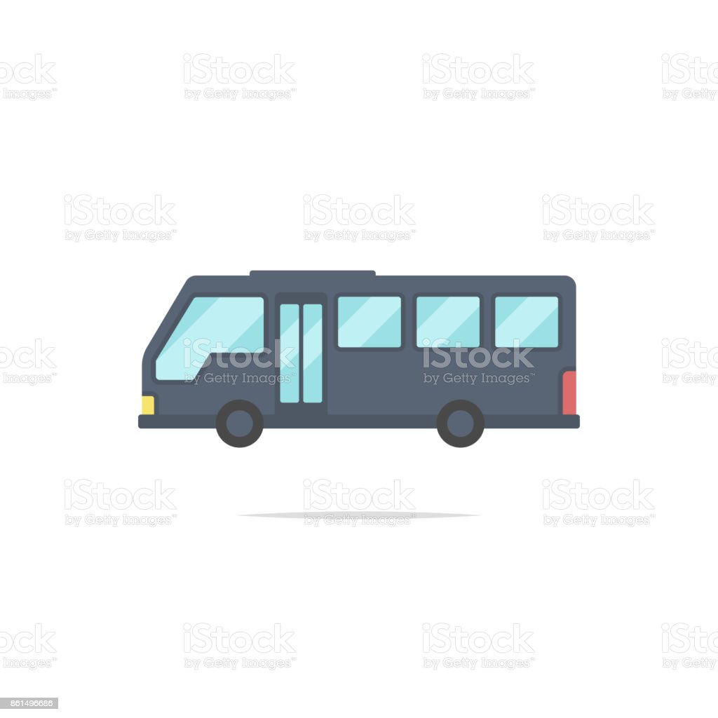 Bus flat design vector vector art illustration