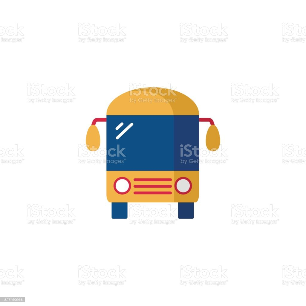 Bus Icon Flat Illustration Of Bus Vector Icon For Web Stock Illustration Download Image Now Istock