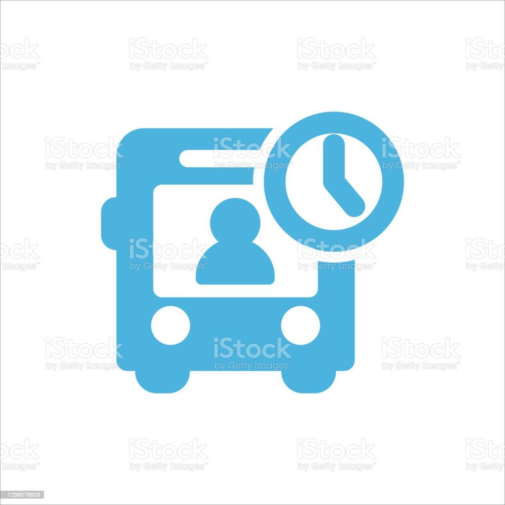 Bus Icon Flat Vector Logo Design Trendy Stock Illustration Download Image Now Istock