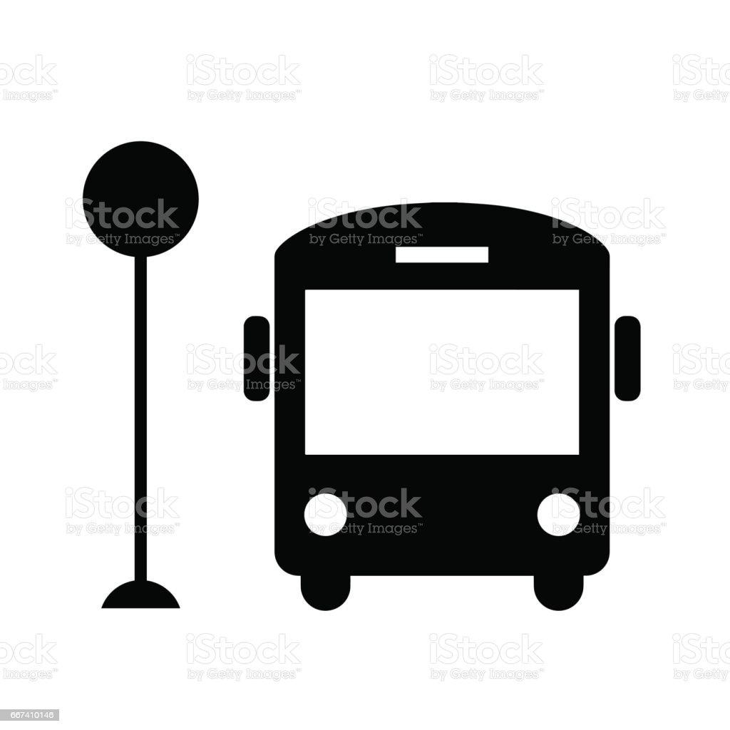 Bus icône isolé sur fond blanc. - Illustration vectorielle