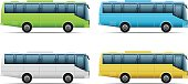 Bus icon set, eps 10