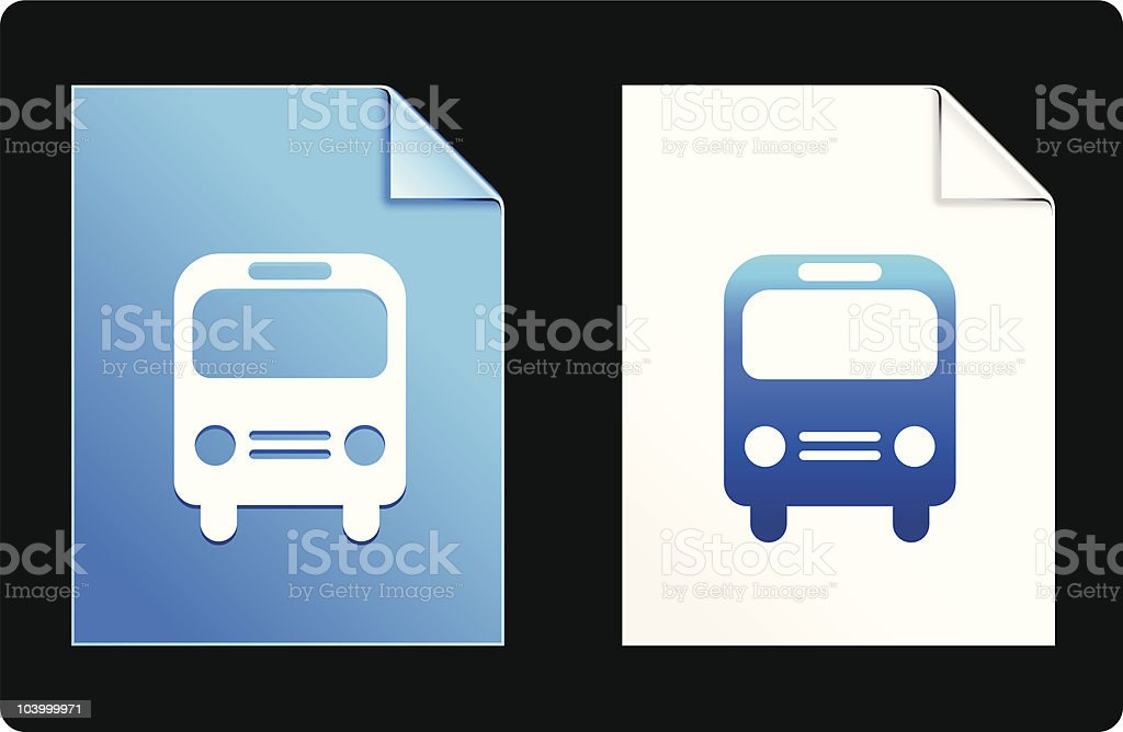 bus icon royalty-free stock vector art