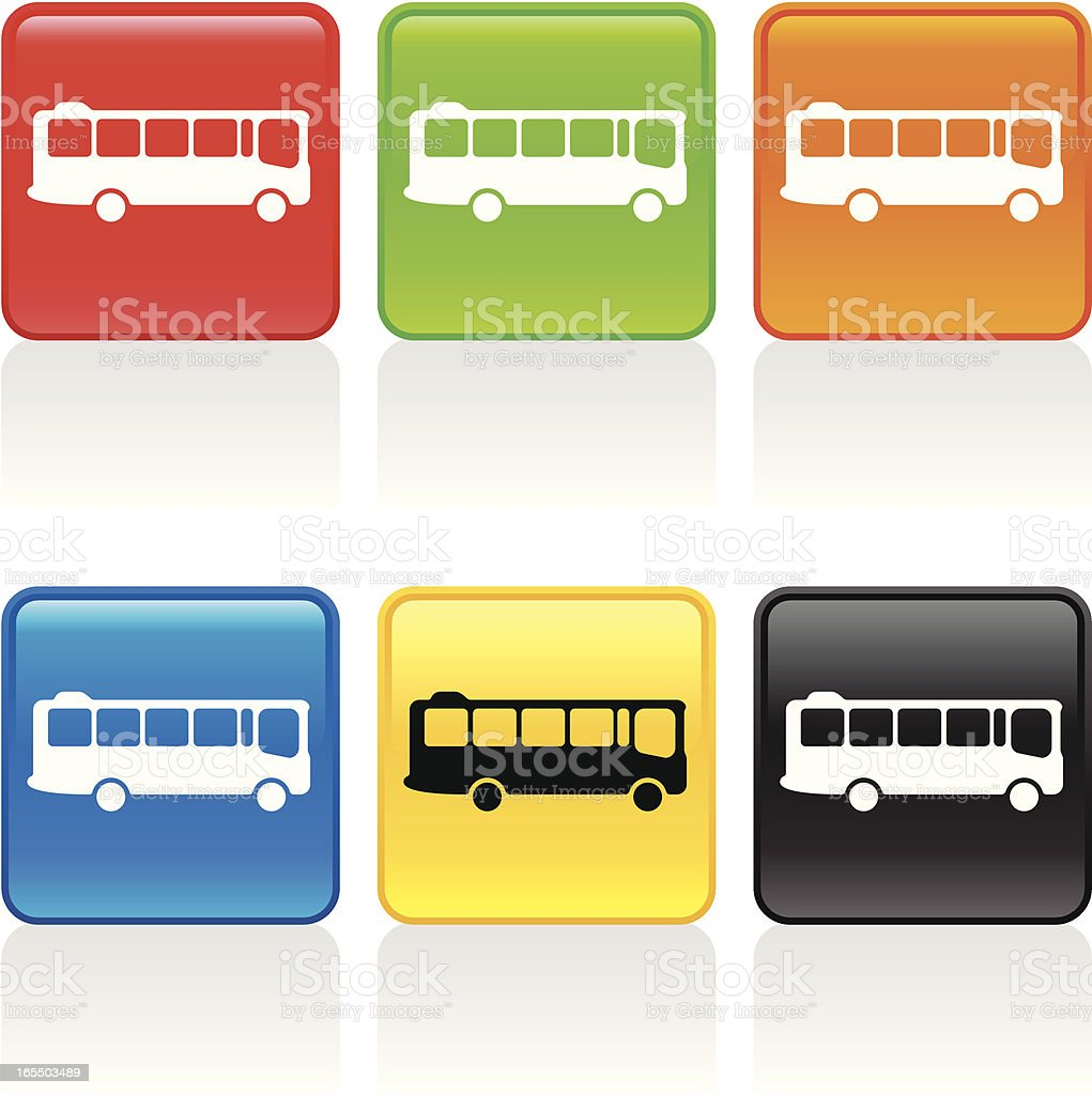 Bus Icon royalty-free bus icon stock vector art & more images of blue