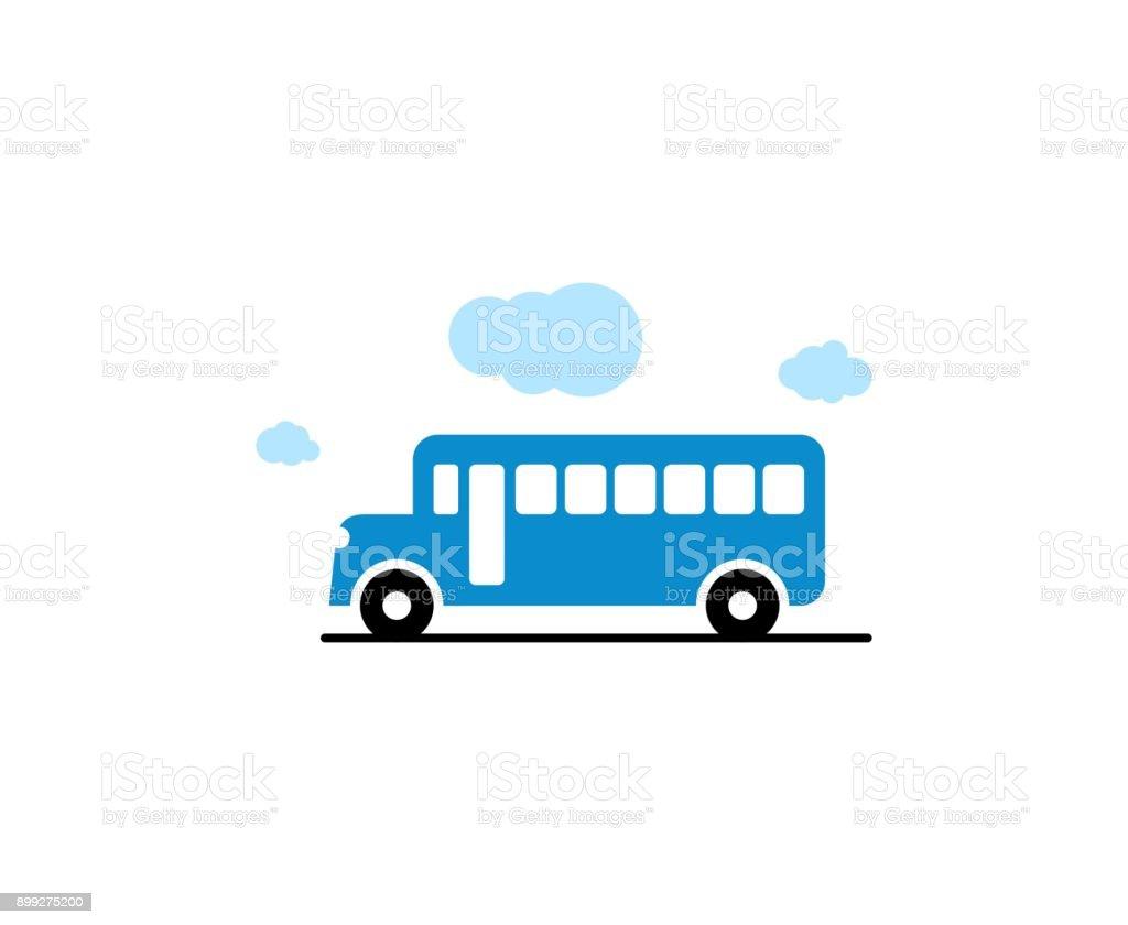 バスのアイコン ベクターアートイラスト
