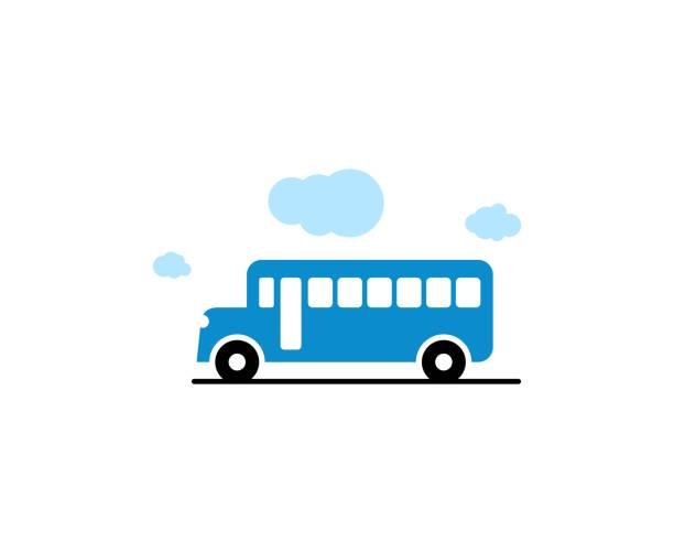 ilustrações, clipart, desenhos animados e ícones de ícone de ônibus  - ônibus escolares