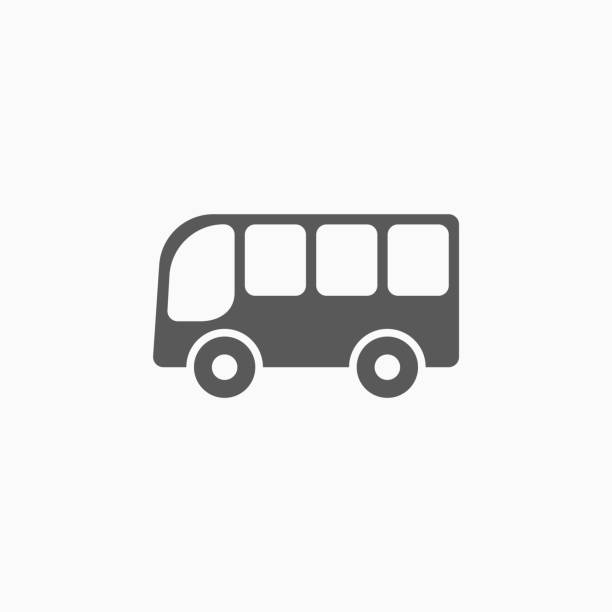 bus icon - back to school stock illustrations
