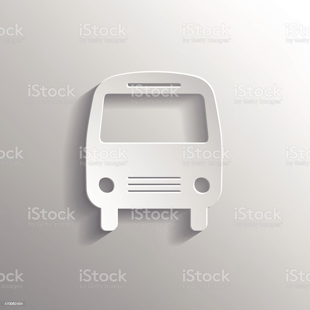 Bus icon with shadow, vector illustration. vector art illustration