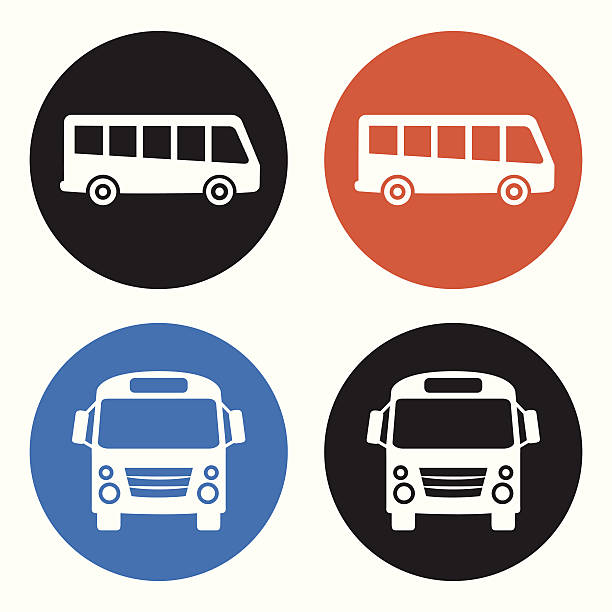bus-symbole - tour bus stock-grafiken, -clipart, -cartoons und -symbole