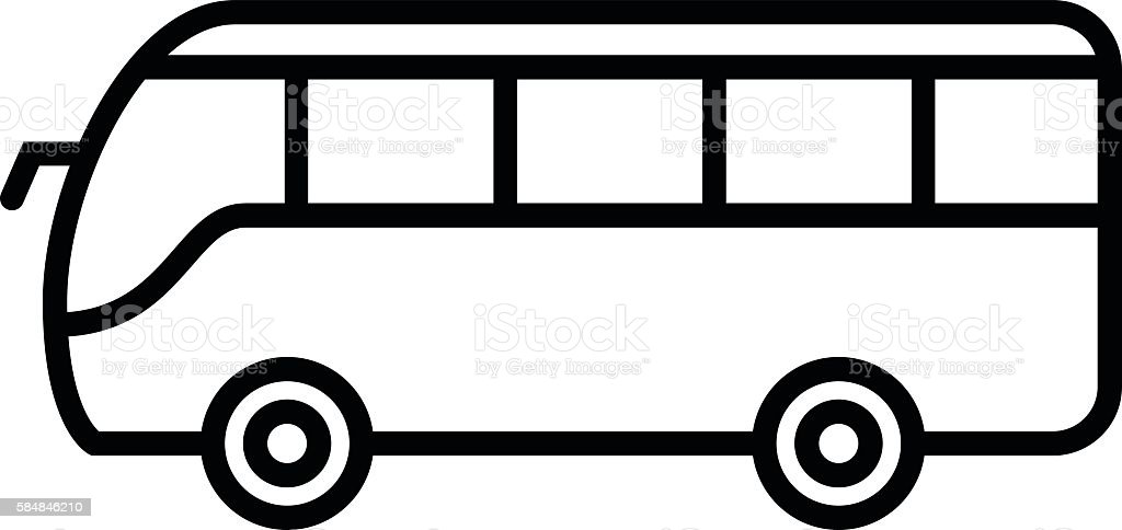 royalty free white school bus clip art vector images rh istockphoto com bus driver clipart black and white bus clipart black and white png