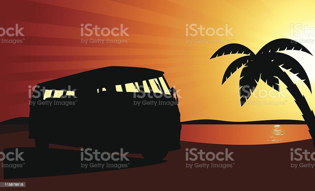 Bus of Peace vector art illustration