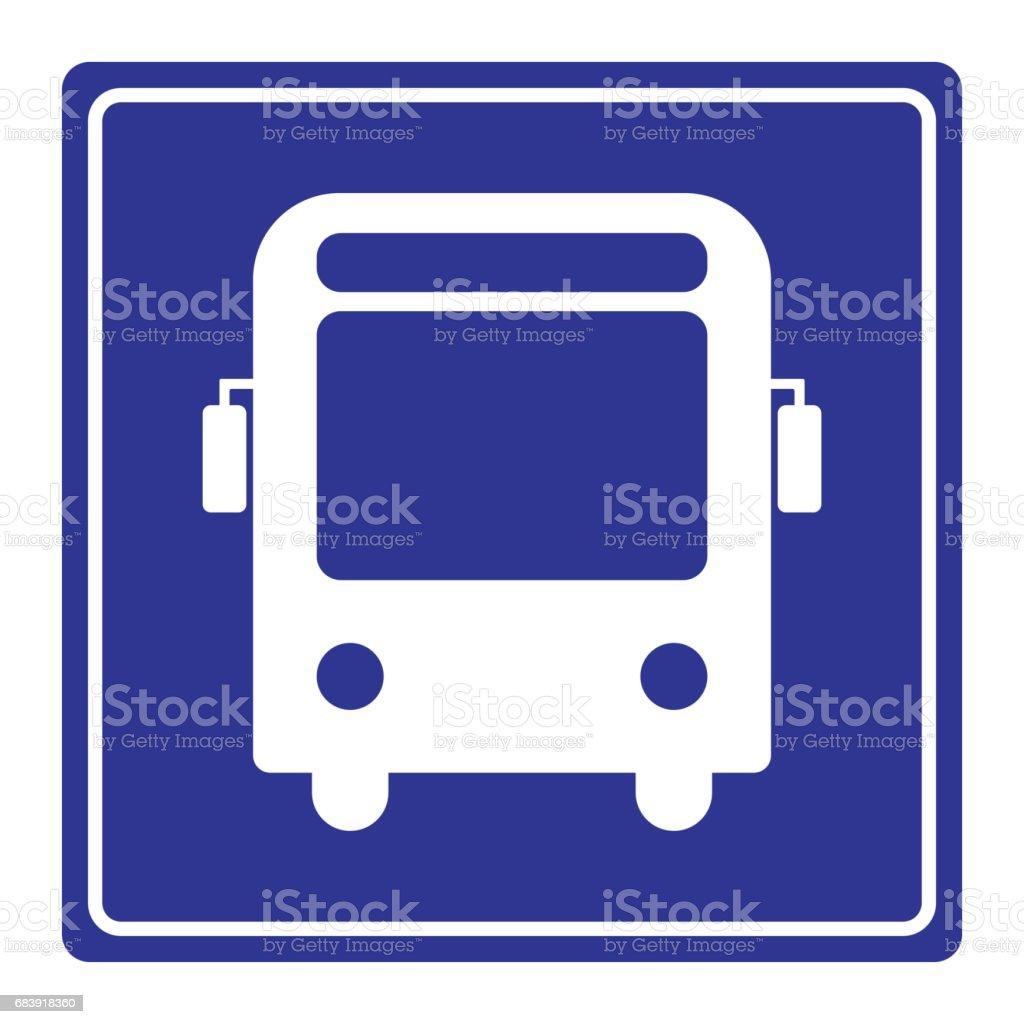 vector signal autobus - Illustration vectorielle