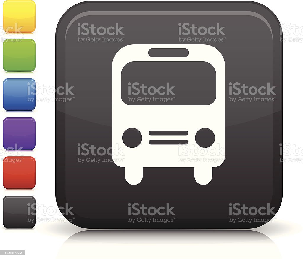 bus square icon royalty-free stock vector art