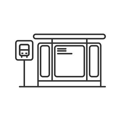 Vetores de Ícone Da Estação De Ônibus e mais imagens de Arte