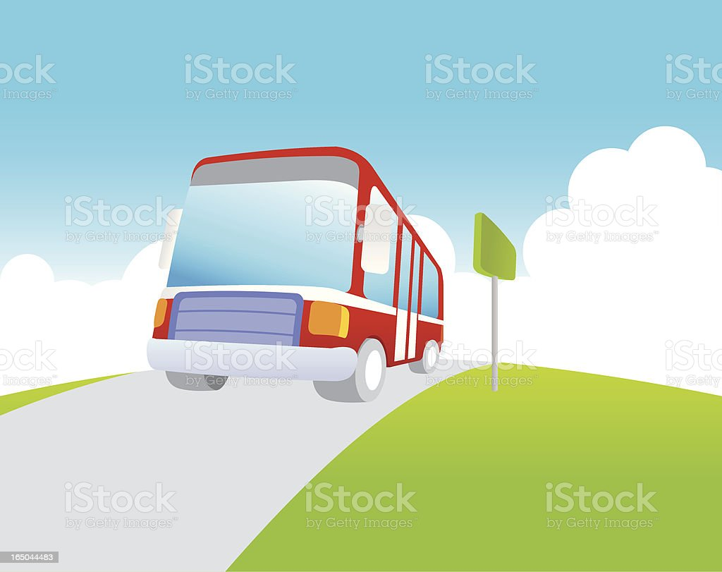 Bus Station royalty-free stock vector art