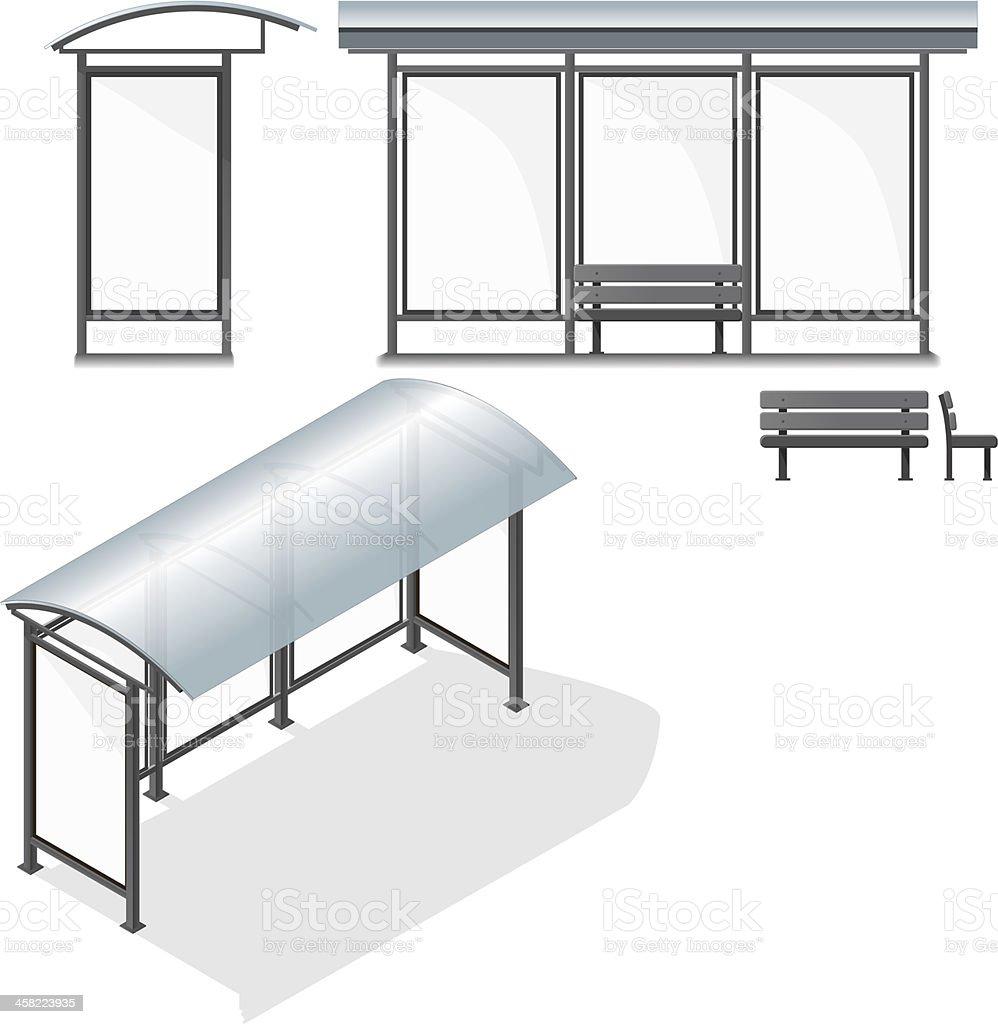 Arrêt de Bus.  Vide Design Template pour la marque - Illustration vectorielle