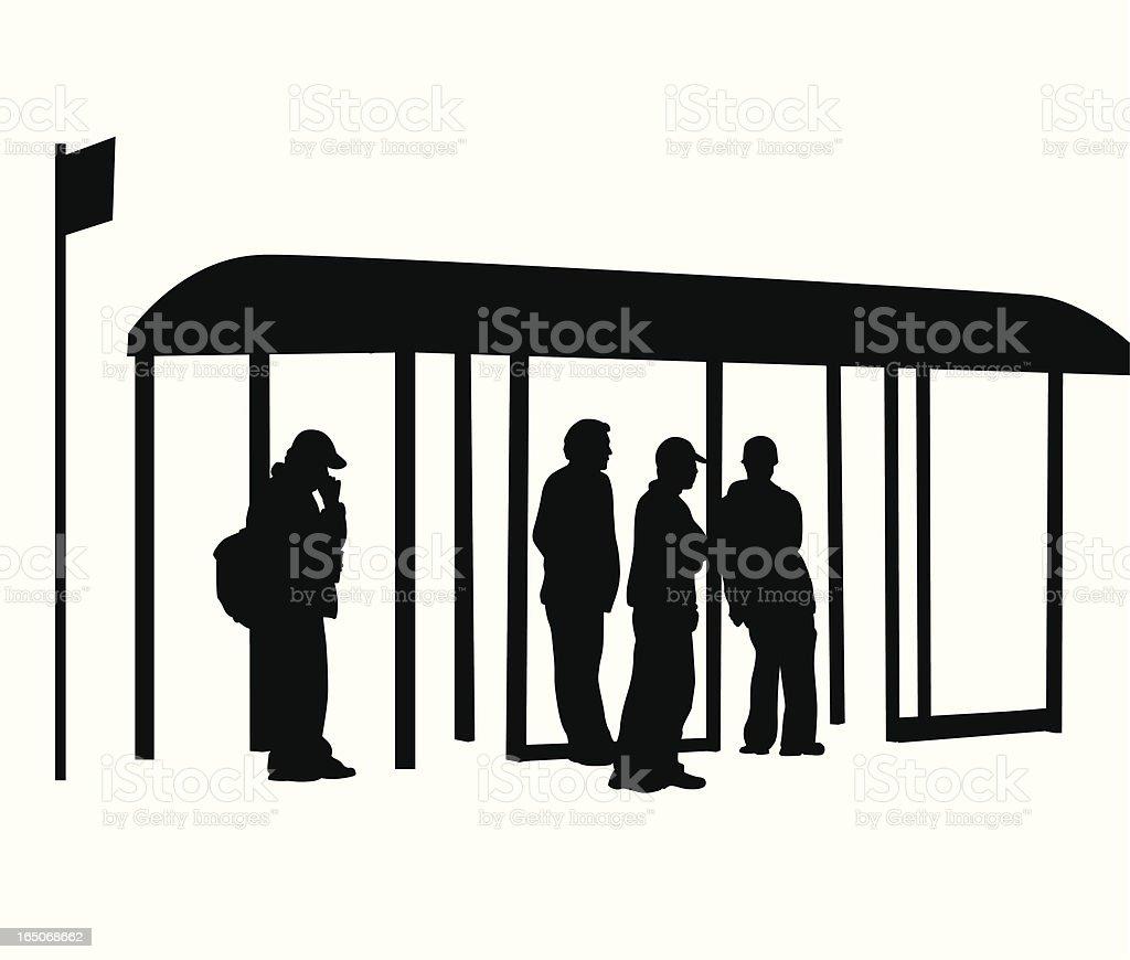 BusStopWaiting - Illustration vectorielle