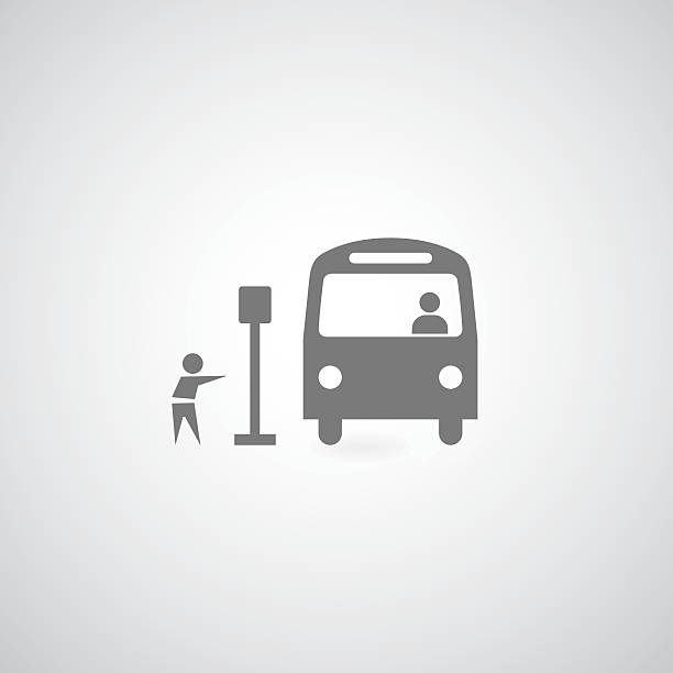 stockillustraties, clipart, cartoons en iconen met bus symbol - bushalte