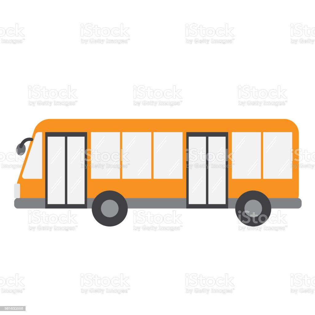 バス交通漫画キャラ側ビュー ベクトル イラスト - イラストレーションの