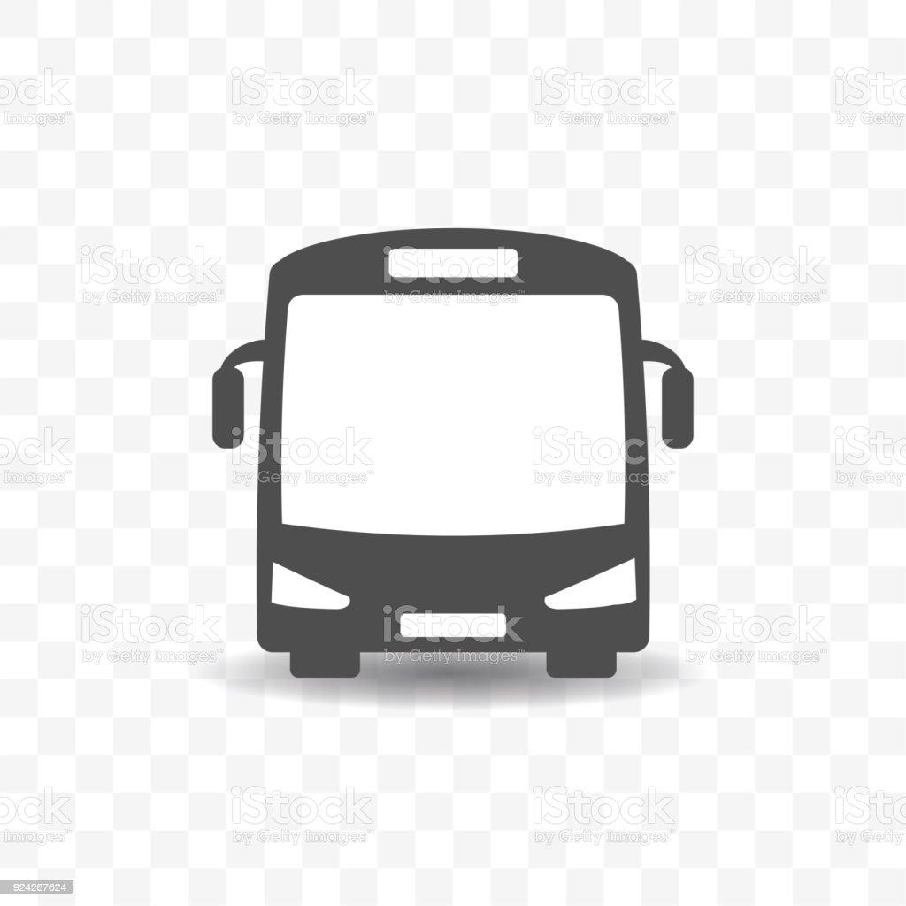 Bus transportation icon design concept. - illustrazione arte vettoriale