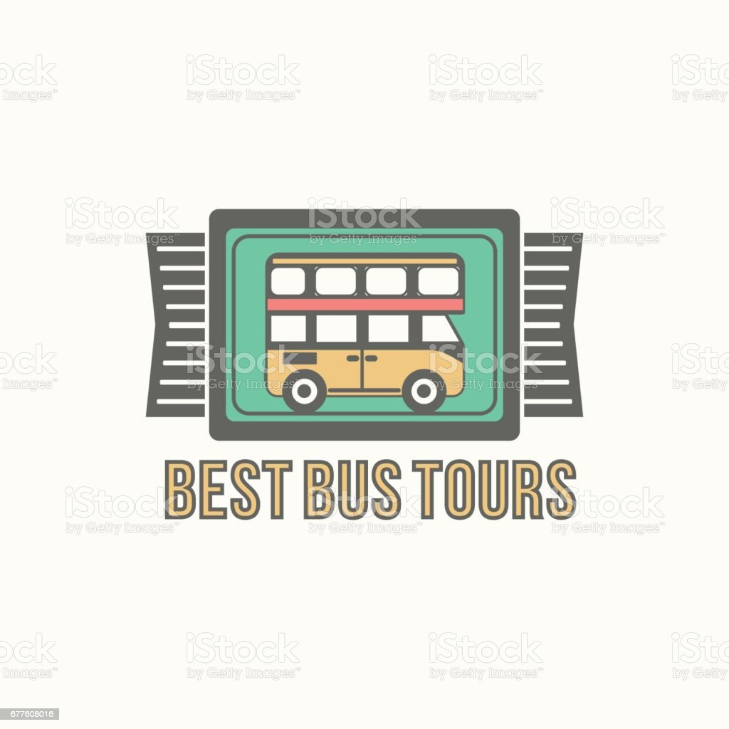 Bus trip and trvel tour badge logo royalty-free bus trip and trvel tour badge logo stock vector art & more images of arts culture and entertainment