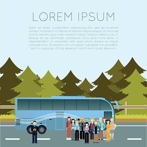 bus-banner - tour bus stock-grafiken, -clipart, -cartoons und -symbole