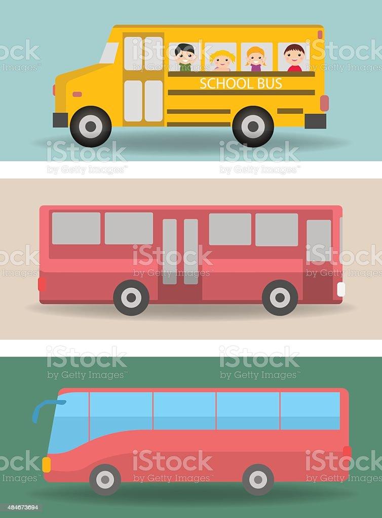 Bus vector art illustration